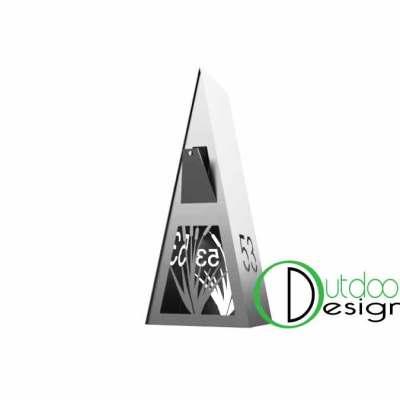 Trangular letter box NZ made steel