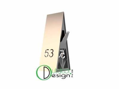 reeds design plasma cut into letterbox