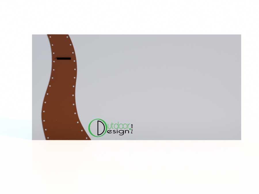 steampunk letterbox, curved designer letterbox mail new zealand steel garden landscape