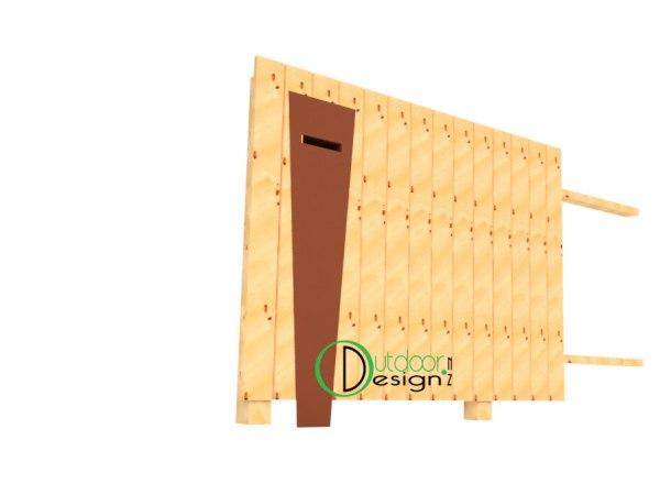wood timber mail slot letter design new zealand