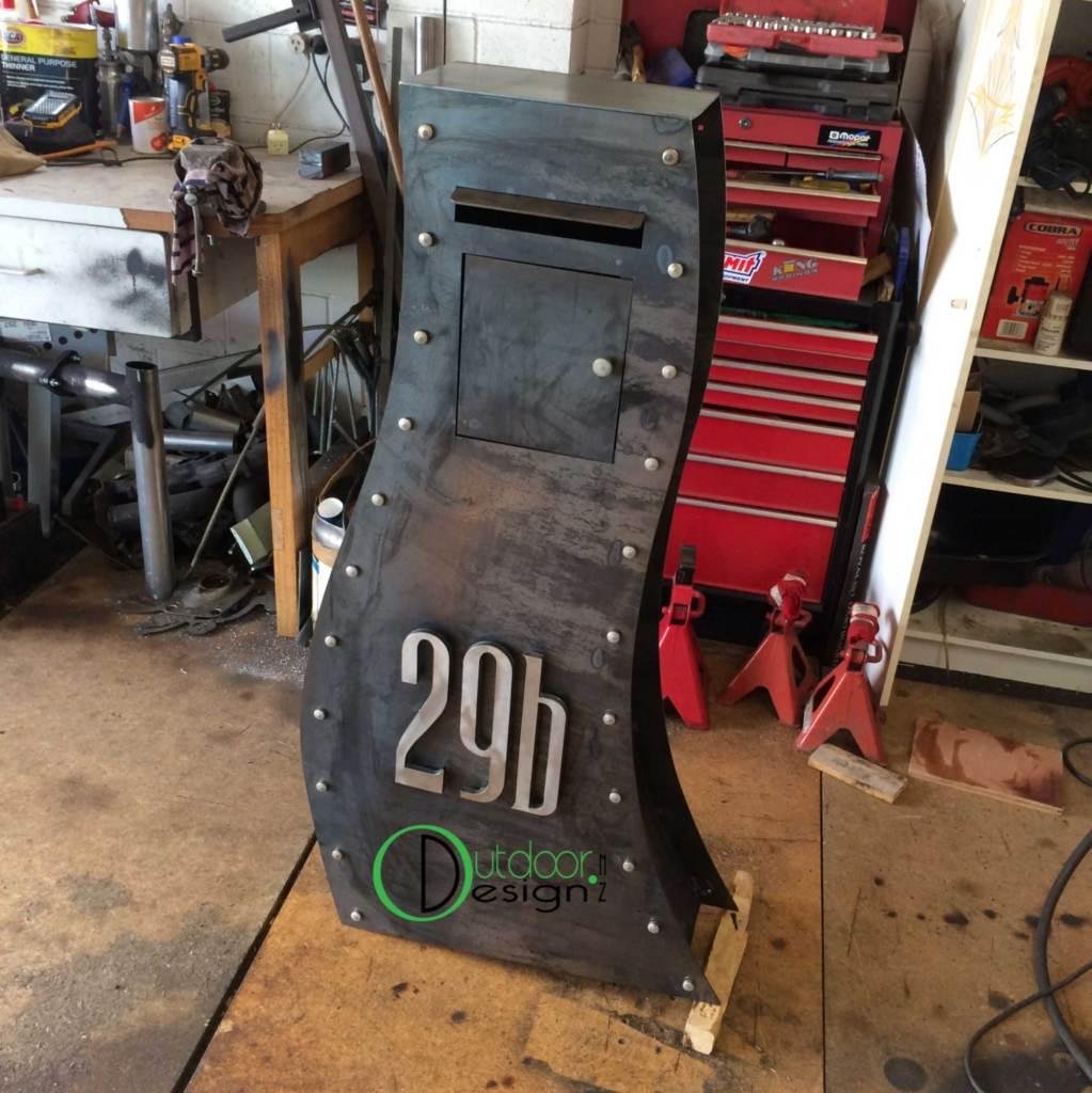 raw steel letter box nz custom design