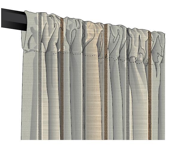 sunbrella canvas stripe rod pocket drapes