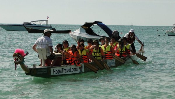 Learning Dragon Boating in Thailand