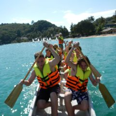 Schools teams Dragon Boating in Thailand