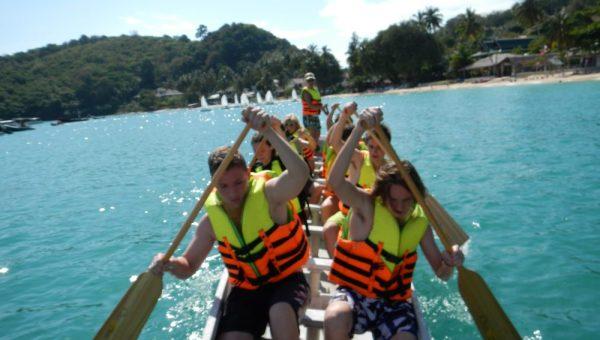 Schools teams Dragon Boating in Thailand