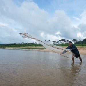 Catching fish the traditional way