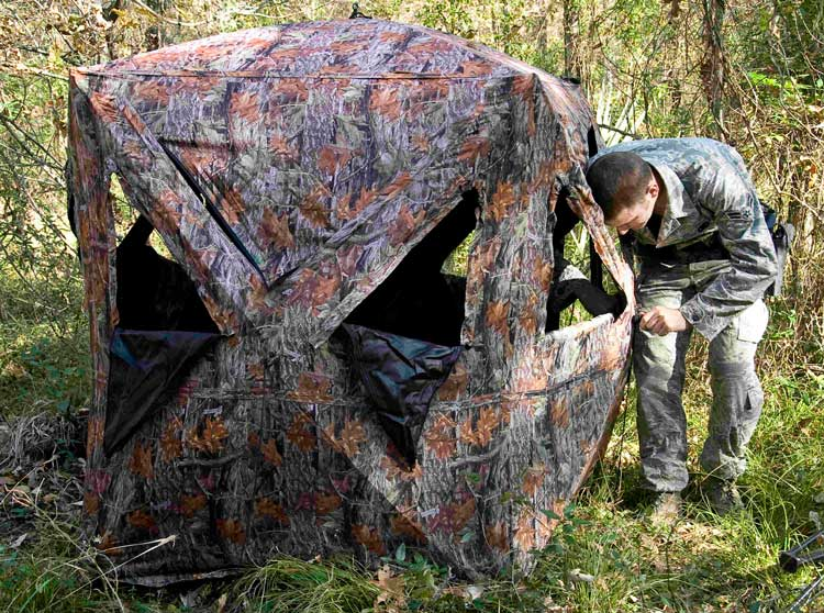 hunting curtain blind whitetail ground a to make best how for blinds camo deer