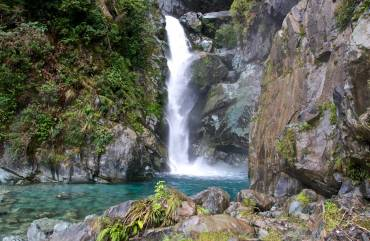 Waterfall on the Hollyford Track