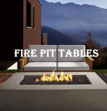 outdoor fire and patio modern gas