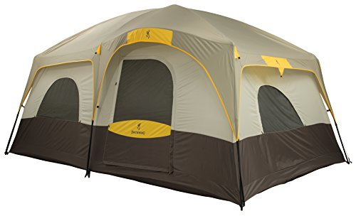 Browning Camping Big Horn Two-Room Tent Free standing plan with fiberglass posts and steel uprights for additional quality and support