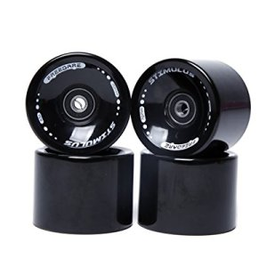FREEDARE 70mm Longboard Wheels with ABEC-7 Bearings and Spacers(Set of 4)