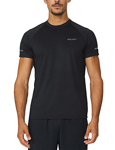 Baleaf Men's Quick Dry Short Sleeve T-Shirt Running Fitness Shirts