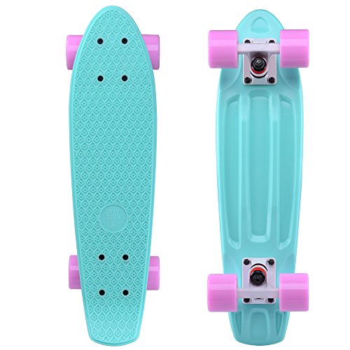 Playshion Complete 22'' Mini Cruiser Skateboard For Beginner With Sturdy Deck