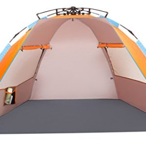 Oileus X-Large 4 Person Beach Tent Sun Shelter - Portable Sun Shade Instant Tent for Beach with Carrying Bag
