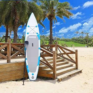 Pexmor 11' Inflatable Stand Up Paddle Board (6 Inches Thick) with SUP Accessories & Carry Bag