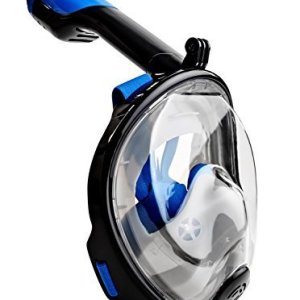 GoPro Compatible Snorkel Mask- Panoramic Full Face