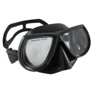 Scuba Choice Scuba Diving Spearfishing Free Dive Low Volume Black Silicone Mask