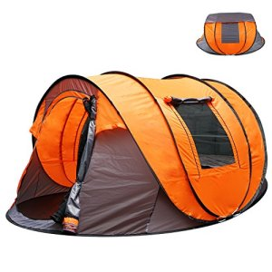 Oileus XL Instant Pop Up Tents for Camping 5-6 Person Tent with Sky-window Easyup-Fast Pitch