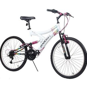 "Dynacraft Women's 24"" 21 Speed Rip Curl Bike, 17""/One Size, White/Black/Pink"