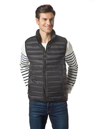 XPOSURZONE Men Packable Lightweight Down Vest Outdoor Puffer Vest Machine washing