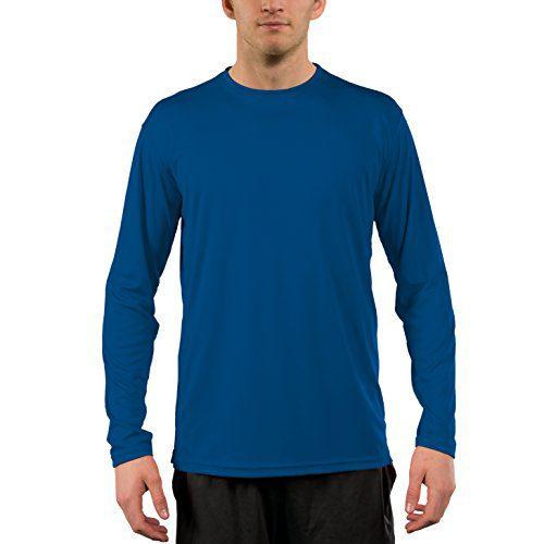 Vapor Apparel Men's UPF 50+ Sun Protection Performance Long Sleeve T-Shirt