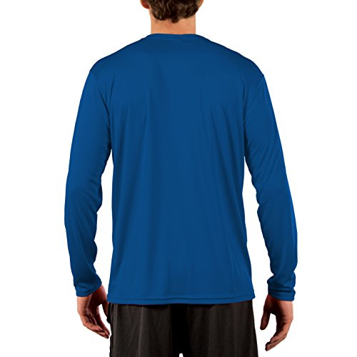 Vapor Apparel Men's UPF 50+ Sun Protection Performance Long Sleeve T-Shirt LONG SLEEVE SHIRT FOR MEN: This long sleeve shirt for men incorporates PURE-tech dampness wicking innovation to keep you dry, and hostile to microbial innovation to keep your tee smell free! With a unisex cut and numerous sizes accessible, this long sleeve men's shirt is the ideal shirt for working in the yard, going angling, cruising, climbing, boarding, or setting off to the beach.