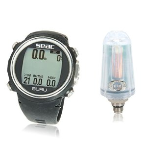 Seac Guru Hoseless Air Integrated Dive Computer Watch with Transmitter & PC Download Kit