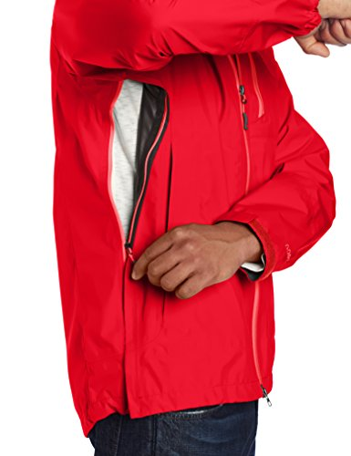 Outdoor Research Men's Foray Jacket BEST-SELLING strength and waterproof versatility  Left-Hand Pocket Doubles as Stuff Sack  Double-Separating focus front zipper  Fully flexible hood  Zip Chest snd Hand Pockets