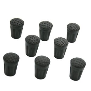 8 Pack Rubber Trekking Poles Tips - Replacement Pole Tip Protectors Fits Most Standard Hiking Poles