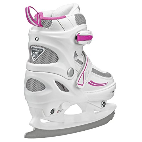 Lake Placid Summit Girls Adjustable Ice Skate Push-catch estimate movable. Warm woven covering. Luxurious solace padding.