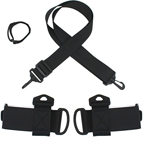 Ski Shoulder Carrier Lash Handle Straps Porter New-Improved Style - This is another style. Longer Shoulder Strap and Longer Board velcro tie. Fits all board and posts . Furthermore, them two are customizable. If it's not too much trouble change them to your expectations.  Hold your shafts - Our velcro lash can fit the two posts and skis. Kindly don't stress over where to hold the poles.  Free your hands - Put it on your shoulder. Free your hands. So you can assist your kids with carrying their gear.