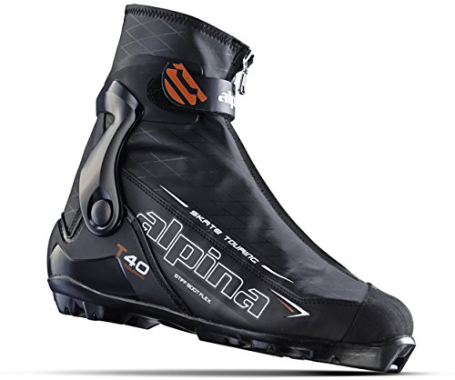 Alpina Sports T40 Skate Touring Cross Country Nordic Ski Boots, Euro 45, Black/White/Red
