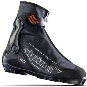 Alpina Sports T40 Skate Touring Cross Country Nordic Ski Boots, Euro 45, Black/White/Red