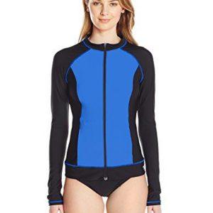 Speedo Women's Endurance Lite Long Sleeve Color Block Rashguard Shirt