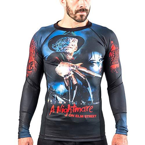 Fusion Fight Gear A Nightmare on Elm Street Compression Shirt BJJ Rash Guard