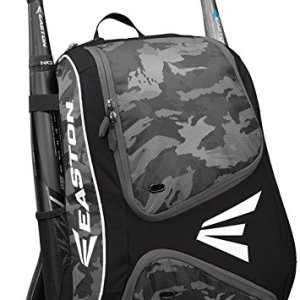 EASTON E110BP Bat & Equipment Backpack Bag | Baseball Softball | 2019 | 2 Bat Sleeves | Smart Gear Storage | Vented Shoe Pocket | Rubberized Zipper Pulls & Fence Hook for Dugout Functionality