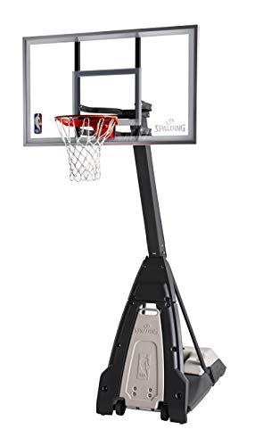 "Portable Basketball System - 60"" Glass Backboard"