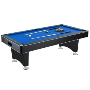 Pool Table with Blue Felt, Internal Ball Return System
