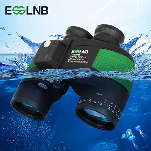 Marine Binoculars with Night Vision Compass Rangefinder