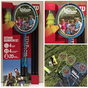 Wilson Badminton 4pc Set - Blye Blue