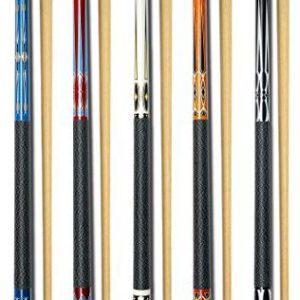 "Set of 5 Pool Cues New 58"" Billiard House Bar Pool Cue Sticks"