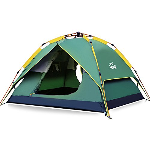 Hewolf Camping Tent 3-4 Person [Instant Tent] Waterproof