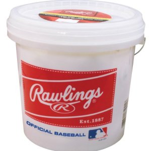 Rawlings Official League Recreational Grade Baseballs, Bucket of 24