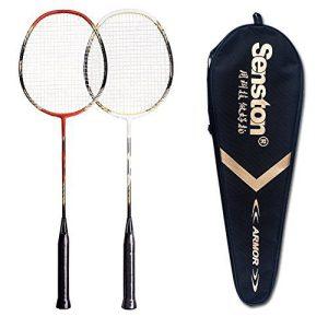 2 Player Badminton Set Double Rackets Carbon