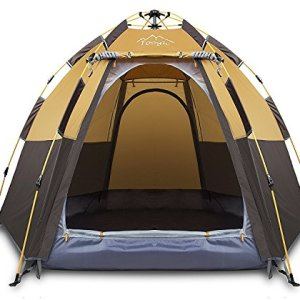 3-4 Person Camping Tent Backpacking Tents Hexagon Waterproof
