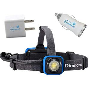 Black Diamond Sprinter Rechargeable Headlamp Bundle with Lumintrail USB