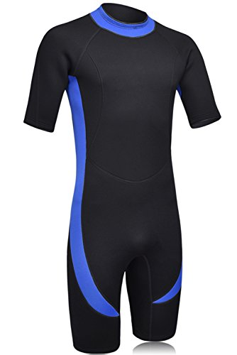 DEHAI Men Women's Full Wetsuits Thermal Suit Sleeves 3mm Neoprene Youth Adult's Diving Swimming Snorkeling Surfing Scuba Jumpsuit Warm Swimwear