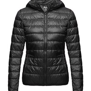 Wantdo Women's Hooded Packable Ultra Light Weight Short Down Jacket