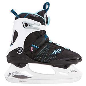 K2 Skate Alexis Ice BOA Skates, Black/White/Blue, Size 10