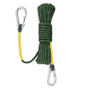 Gonex Static Climbing Rope, 8mm Safety High Strength Tree Climbing Rappelling Rope Indoor Gym Outdoor Hiking Magnet Fishing Fire Escape Rope 32ft 64ft 96ft